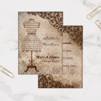 Fashion blogger business cards templates zazzle vintage mannequin fashion business cards reheart Images