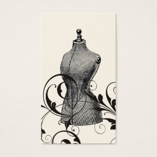 Vintage Mannequin Seamstress Fashion Sewing Business Card