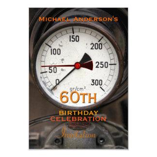 Vintage Manometer 60th Birthday Celebration Card