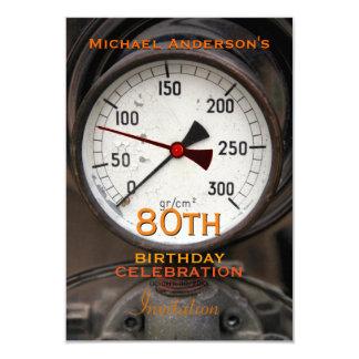 Vintage Manometer 80th Birthday Celebration Card