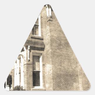 Vintage Mansion Triangle Sticker