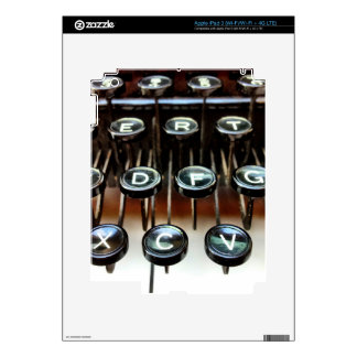 Vintage Manual Typewriter Keys iPad 3 Skin