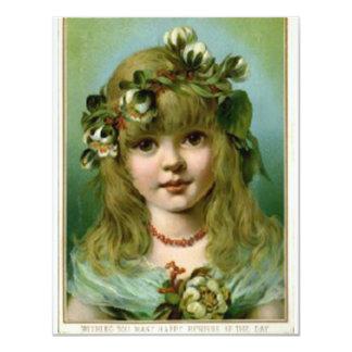 Vintage *Many Happy Returns* Christmas Girl Card