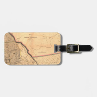 Vintage Map - 1841 Pacific NW | Oregon Territory Luggage Tag