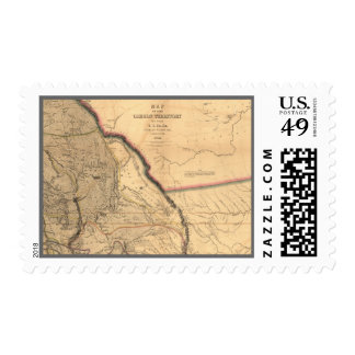 Vintage Map - 1841 Pacific NW | Oregon Territory Postage