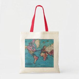 Vintage map 1919 tote bag