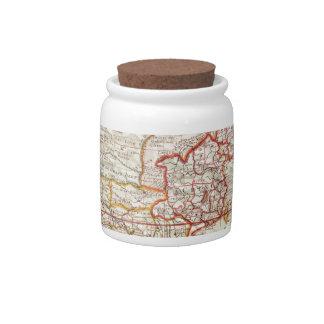 vintage map 2 candy jar