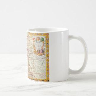 vintage map 2 coffee mug