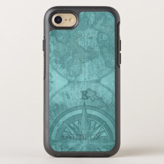 Vintage Map and Compass OtterBox Symmetry iPhone 7 Case
