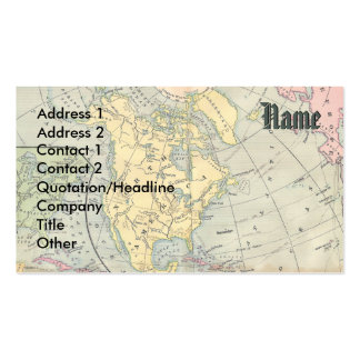 Vintage Map Business Card