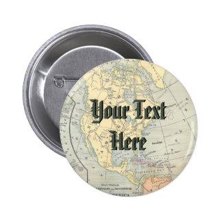 Vintage Map Button