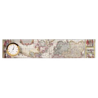 Vintage Map & Characters Claes Janszoon Visscher Nameplate