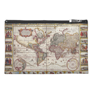 Vintage Map & Characters Claes Janszoon Visscher Travel Accessory Bag