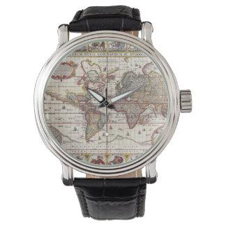 Vintage Map & Characters Claes Janszoon Visscher Watch