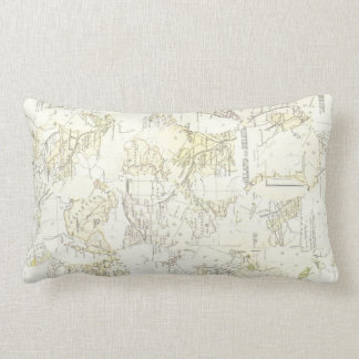 Vintage Map Chart Nautical Throw Pillow