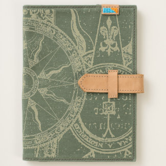 Vintage Map Compass Collage Journal