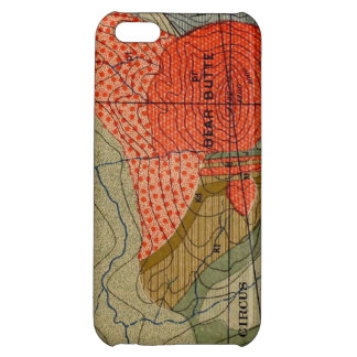Vintage Map Detail / Bear Butte / Circus Flats Case For iPhone 5C