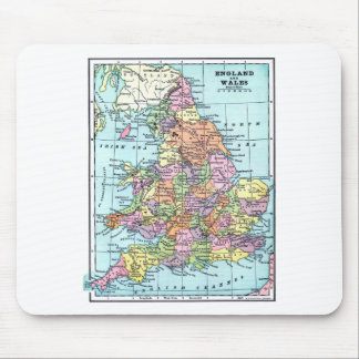 Vintage Map - England & Wales Mouse Pad