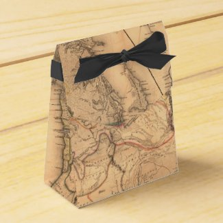 Vintage Map Favor Box