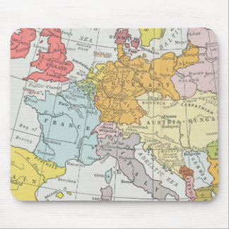 Vintage map France, Italy Austria Hungary North Se Mouse Pad
