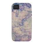 Vintage Map iPhone 4 case cover