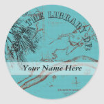 Vintage Map Library Sticker