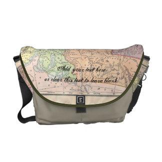Vintage Map Messenger Bag