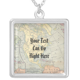 Vintage Map Necklace
