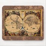 Vintage Map Nova totius terrarum 1625 Mousepads