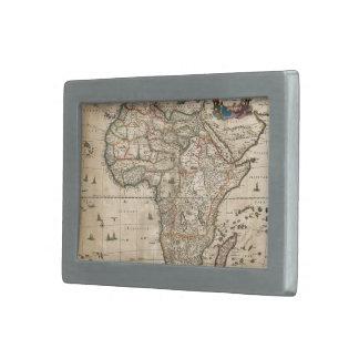 Vintage Map of Africa (1689) Belt Buckle