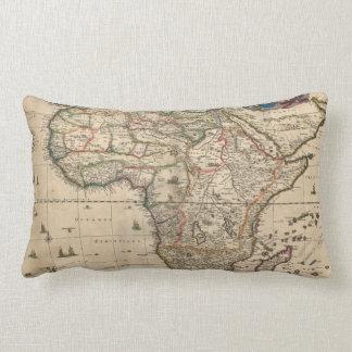 Vintage Map of Africa (1689) Lumbar Pillow