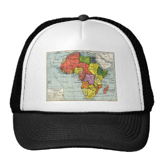 Vintage map of AFrica, French text Trucker Hat
