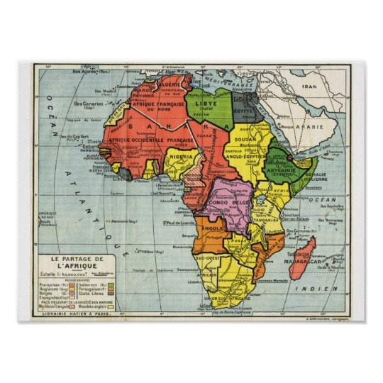 Vintage map of AFrica, text in French Poster on map of ethiopia in french, map of african countries, map of france in french, us map in french, map of european countries in french, map colonial africa, map of madagascar in french, map of belgium in french, map of switzerland in french, map of casablanca in french, south america map in french, map of french speaking countries, map of caribbean in french, nutrition label in french, map of world in french, map of north america in french, map of canada in french, map of seychelles in french, map of central america in french, united states map in french,