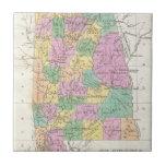 Vintage Map of Alabama (1827) Ceramic Tiles