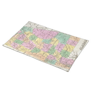 Vintage Map of Alabama (1827) Cloth Placemat