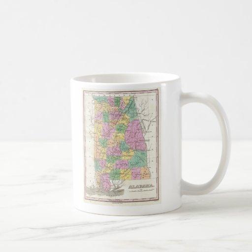 Vintage Map of Alabama (1827) Classic White Coffee Mug