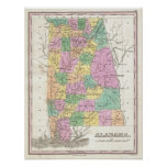 Vintage Map of Alabama (1827) Posters