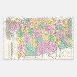Vintage Map of Alabama (1827) Rectangular Sticker