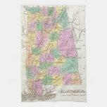 Vintage Map of Alabama (1827) Towel