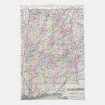 Vintage Map of Alabama (1855) Kitchen Towel