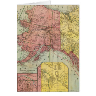 Vintage Map of Alaska and Canada (1901) Card