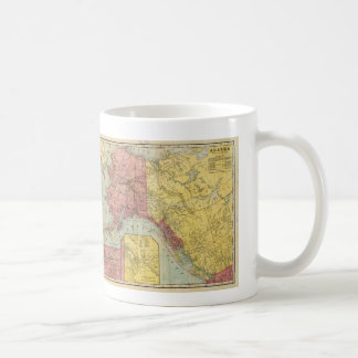 Vintage Map of Alaska and Canada (1901) Coffee Mug