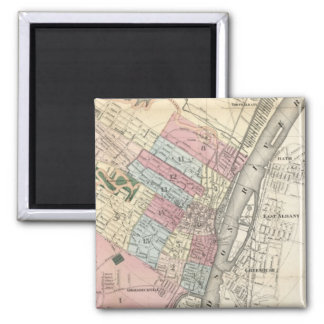Vintage Map of Albany NY (1874) Magnet