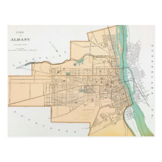 Vintage Map of Albany NY (1895) Postcard
