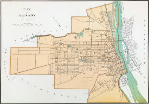 Albany Ny Map Gifts on Zazzle