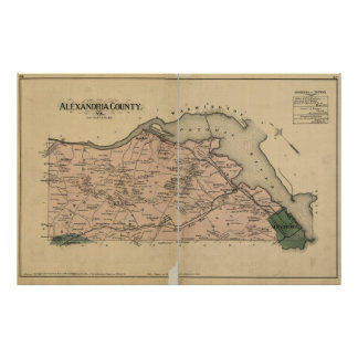 Vintage Map of Alexandria County Virginia (1878) Poster