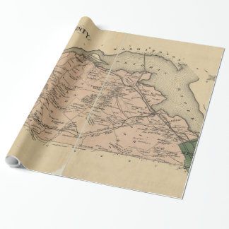 Vintage Map of Alexandria County Virginia (1878) Wrapping Paper