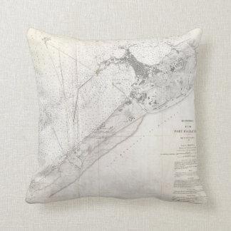 Vintage Map of Alexandria Egypt (1867) Throw Pillow
