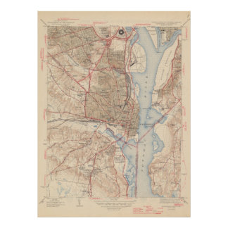 Vintage Map of Alexandria Virginia (1945) Poster