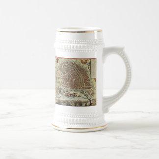 Vintage Map of Amsterdam (1688) Coffee Mugs